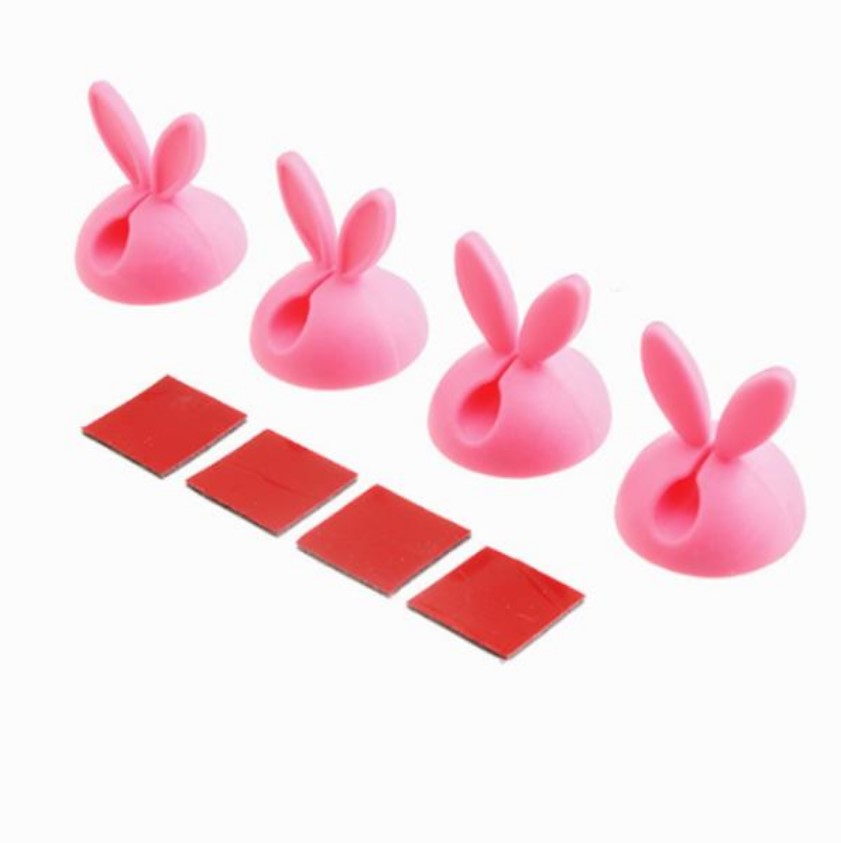 Clips Rabbit Ears 1-cable Pink - dataprint.vn.ua