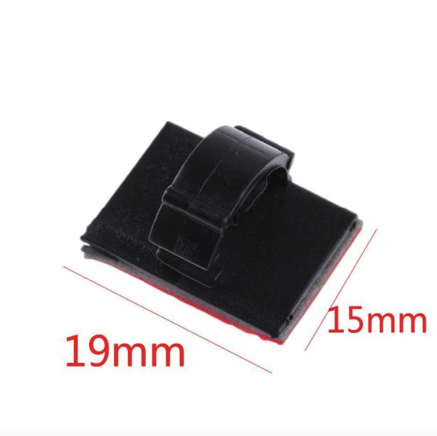Clips Rectangular 1-cable Black - dataprint.vn.ua