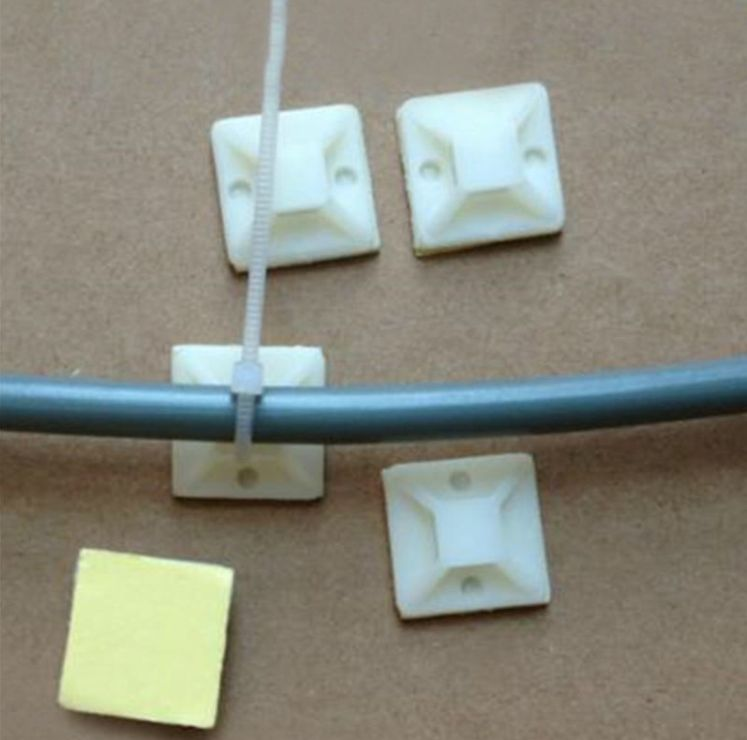 Clips Square N-cable White - dataprint.vn.ua