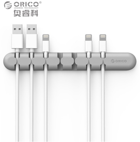 Clips Straight 5-cable Silver - dataprint.vn.ua