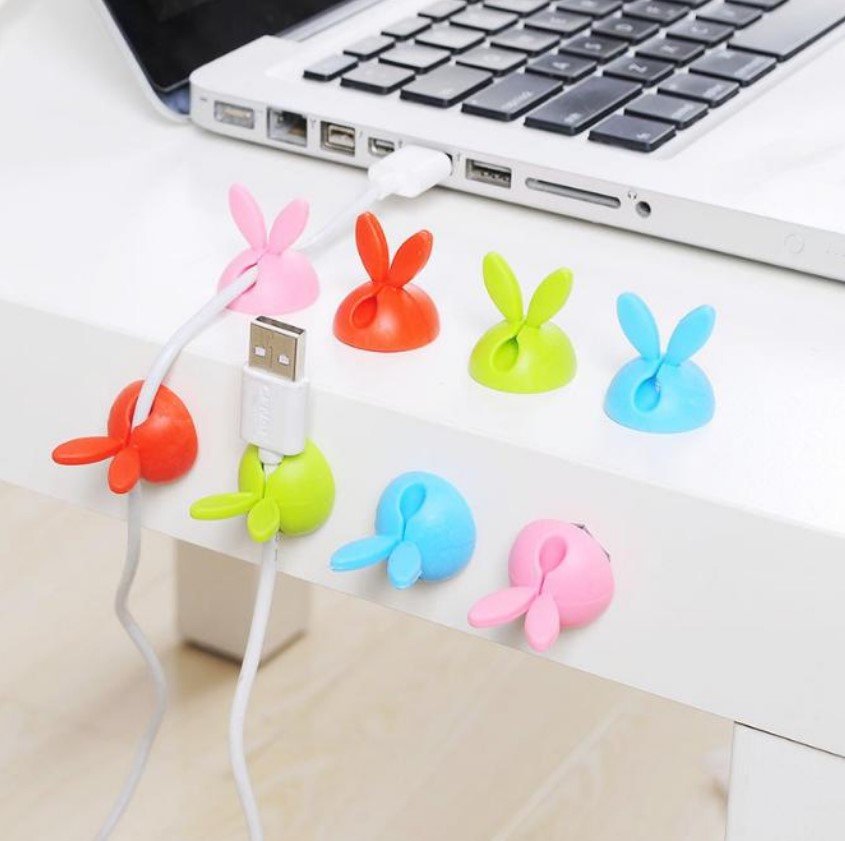 Clips Rabbit Ears 1-cable Red - dataprint.vn.ua